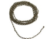 Vintage Figure 8 Chain, 5 Feet, Jewelry Chain, Petite, Delicate Chain, Jewelry Making, Antique Brass Chain, B'sue Boutiques, Item06783