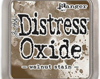 Tim Holtz Distress Oxide Walnut Stain Ink Pad TDO56324; Mixed Media, Scrapbook, Paper Crafting, Stamping, Scrapbook