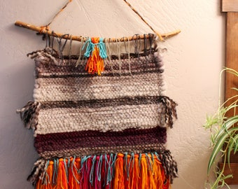 2 Hand  Wool Woven Wall Hanging