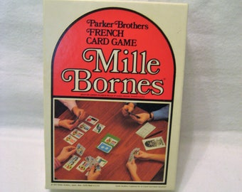 Mille Bornes French Auto Racing Game Vintage 1970s Parker Brothers Game