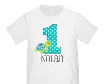ON SALE Under the Sea Turtle Personalized Birthday Shirt - ANY Age