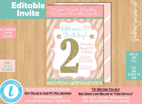 Twinkle twinkle little star birthday invitation twinkle twinkle il570xn filmwisefo