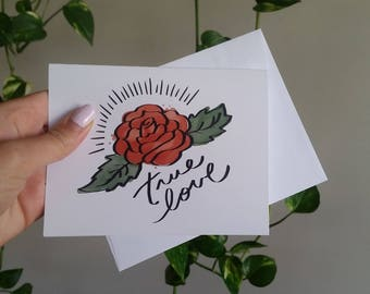 True Love 100% Recycled Paper Note Card