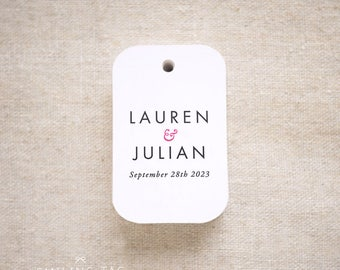Modern Minimalist Wedding Favor Tags -Personalized Gift Tags -Bridal Shower -Thank you tags- Custom Gift Tags - Set of 24 (Item code: J697)