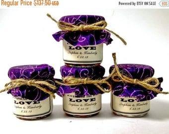 SALE 15% Sale Ends Sunday 50 Spread The Love Wedding Favors, Spread The Love Jams, Mini Mason Jar Wedding Favors, Mini Mason Jar Jams, Small