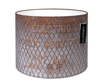 Lamp Shade - Electric Santa Fe. Photography lampshade, industrial, rust.
