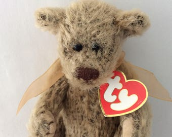 "TY Beanie Babies - TY Bear - Merry Christmas - Teddy Bear - The Attic Treasures ""Birch"" - collectible vintage"