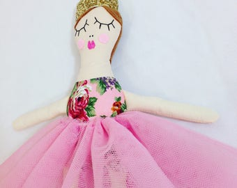 Princess, RosieDoll, Handmade doll, Rag doll, Dolly, Princess ragdoll