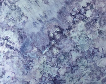 Ice Dyed Fabric, Blooming Hydrangeas #3, Fat Quarter (MB) #36
