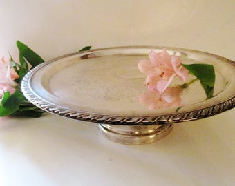 Vintage  Silver Plate Cake Stand, Oneida Silver, Cake Stand, Dessert Stand