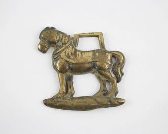 Vintage English Horse Brass -  Brass Horse Tack Decorative Medallion
