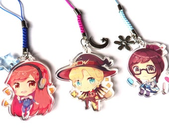 Overwatch clear acrylic charms