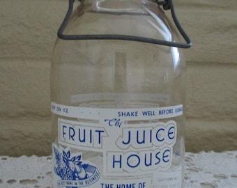 Vintage Half Gallon Jar - Vintage Juice Jar - Duraglass Half Gallon Jug