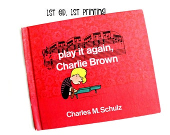 vintage Play It Again, Charlie Brown, 1st. ed., 1st printing 1971, collectible book