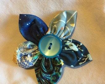 3-inch Fabric Flower hair clip