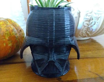 Darth Vader Planter 3D Printed