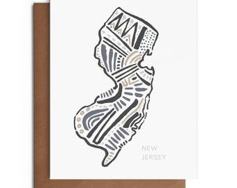 New Jersey - Blank Greeting Card - Digitally Printed - A2 Cards w/ envelope - Stationery - Direct Mail