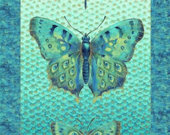 Northcott - Flight of Fancy by Northcott Studio  - Shimmer Butterfly/Dragonfly Panel