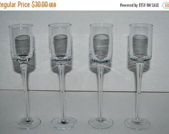 on sale Vintage clear glass cordials long stem cocktail glasses    aperitifs
