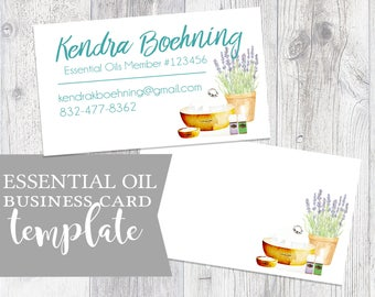 Essential Oils Business Card Business Card Calling Card