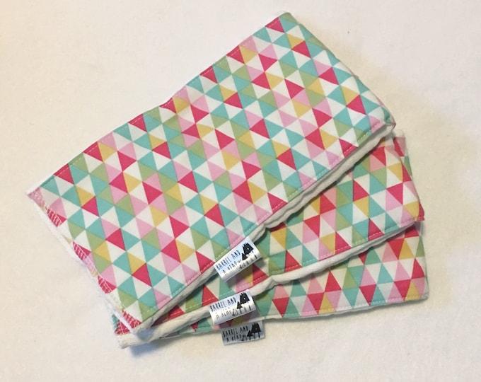 Set of 3 Triangle Burp Cloths