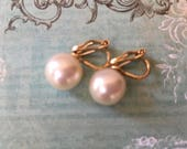 Lovely Vintage Faux Pearl Designer Earrings by Napier