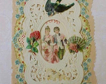 Part of Victorian Valentine for Craft or Art Project