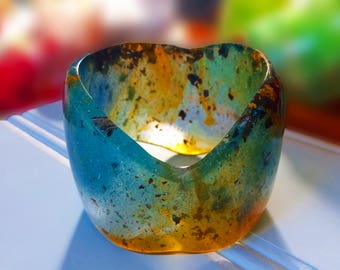 Ancient Ocean Resin Bangle