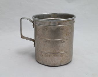 Vintage Aluminum Measuring Cup - Vintage Kitchen, Vintage Baking, Vintage Kitchen Decor