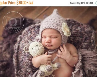 Happy Birthday sale baby handknit hat photo props