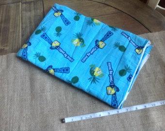 Sponge Bob Fabric Viacom International Inc 2003 'Oops I Ripped My Pants' Fabric