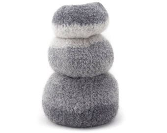 ON SALE WOOLY Felted Pod Bowls - wooly pods to put your stuff into - grey shades* 12