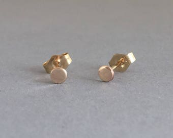 Small Dot Post Earrings Gold Fill, Rose Gold Fill, or Sterling Silver