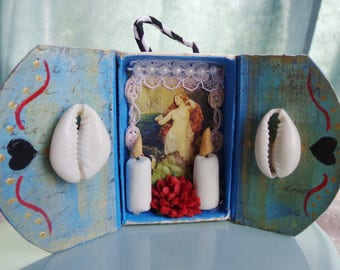 Aphrodite Matchbox Shrine Ornament. Venus.