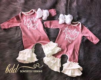 Full Body Ruffle Infant Rompers