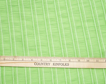 Large Vintage Green Stripe Material - Sewing Supply