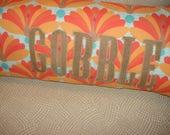 Thanksgiving Pillow,  Whimsical Thanksgiving, Turkey Pillow, OOAK pillow, OOAK gift, lumbar pillow, long pillow, gobble, Autumn Throw Pillow
