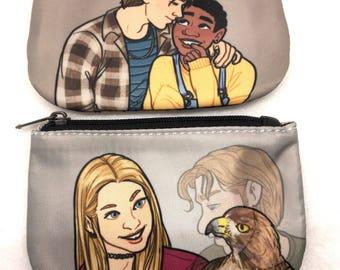 Animorphs Jake/Cassie or Rachel/Tobias coin purse pouch