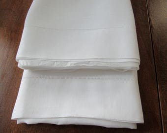 Pillow Cases, White Linen, Vintage