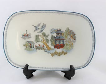 Wedgwood Chinese Legend Small Trinket Dish Tray with Stand