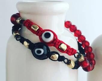 Evil Eye Beaded Bracelets