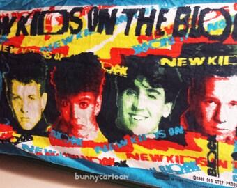 Vintage 1989 New Kids On The Block beach towel