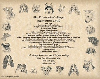 Veterinarian's Prayer Gift and Keepsake