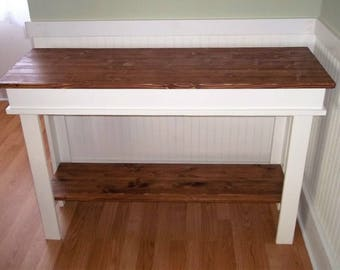 Entryway Table - Farmhouse entryway table - entryway console  table