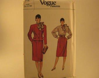 Vogue Sewing Pattern 8770 sz 14-16-18 Misses' Jacket, Skirt & Blouse [L04]