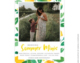 INSTANT DOWNLOAD -  5x7 Summer Marketing Board - Photoshop template - E1499