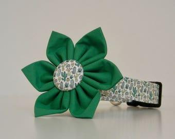 Cactus Green Summer Dog Flower Collar Made to Order