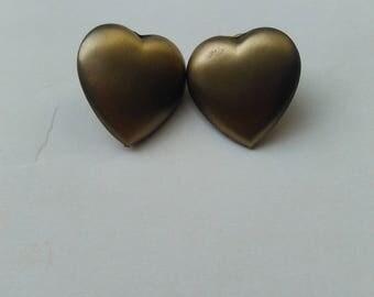 Vintage Heart Shaped Earrings