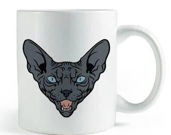 Black Sphynx Mug