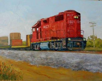 Engine #1824 - Original Oil Painting Railroad Art